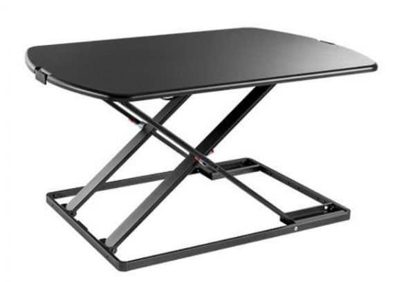 Buy Brateck-DWS07-02-Brateck Ultra-Slim Sit Stand Desk Converter (Lockable Gas Spring Mechanism)( 797x560x44~406mm)Worksurface Weight Up to 10kg