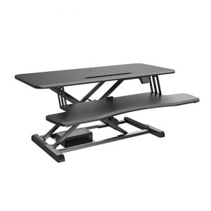 Buy Brateck-DWS15-02-Brateck Electric Sit Stand Desk Converter (950x615x156~480mm) with Keyboard Tray Deck (Standard Surface) Worksurface Up to 20kg