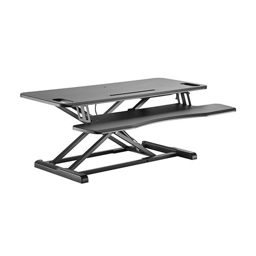 Buy Brateck-DWS28-02N-Brateck Gas Spring Sit Stand Desk Converter (950x615x110~505mm)with Keyboard Tray Deck(Standard MDF Board Surface)