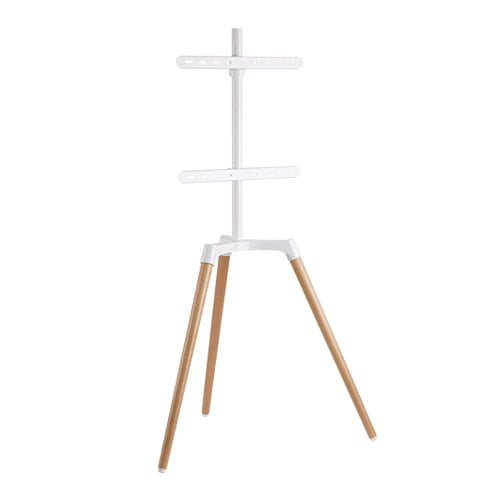 Buy Brateck-FS19-44F-01-Brateck Pastel Easel Studio TV Floor Tripod Stand For Most 50''-65'' Up to 35kg Flat Panel TVs  -- Matte White  Beech