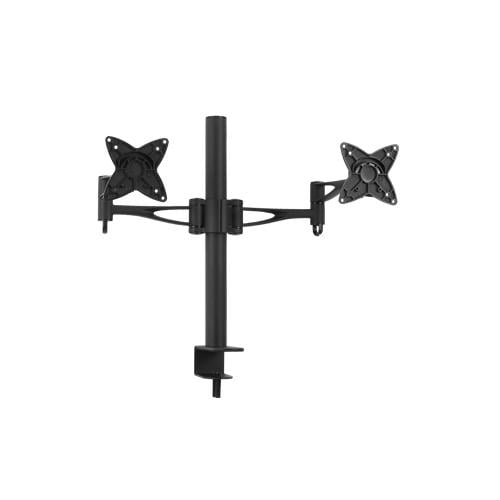 Buy Brateck-LCD-T9-Brateck Dual Free Standing Monitor Mount w/Arm  Desk Clamp Black VESA 75/100mm Up to 27''