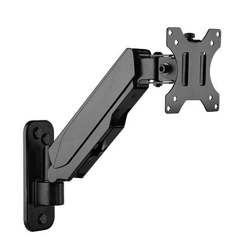 Buy Brateck-LDA30-111-Brateck Single Screen Wall Mounted Gas Spring Monitor Arm