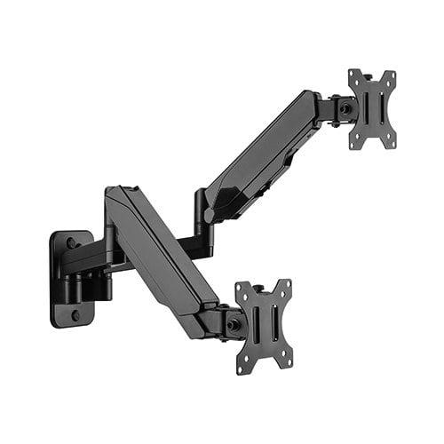 "Buy Brateck-LDA30-114-Brateck Dual Monitor Wall Mounted Gas Spring Monitor Arm 17""-32"""