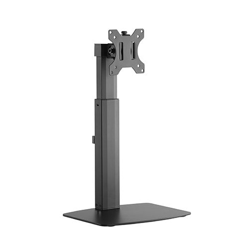 """Buy Brateck-LDS-22T01-Brateck Single Free Standing Screen Pneumatic Vertical Lift Monitor Stand Fit Most 17""""-32"""" Flat and Curved Monitors Up to 7 kg VESA 75x75/100x100"""