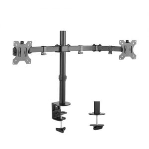 Buy Brateck-LDT12-C024N-Brateck Dual Screens Economical Double Joint Articulating Steel Monitor Arm Fit Most 13''-32'' Monitors Up to 8kg per screen VESA 75x75/100x10
