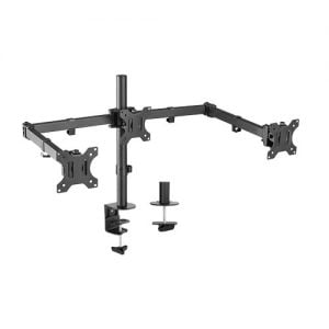 Buy Brateck-LDT12-C034N-Brateck Triple Screens Economical Double Joint Articulating Steel Monitor Arms