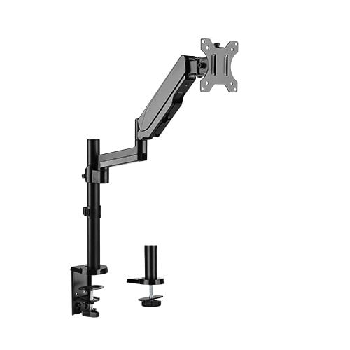 """Buy Brateck-LDT16-C012-Brateck Single Monitor Full Extension Gas Spring Single Monitor Arm 17"""" - 32"""" Up to 8Kg Per screen VESA 75x75/100x100"""