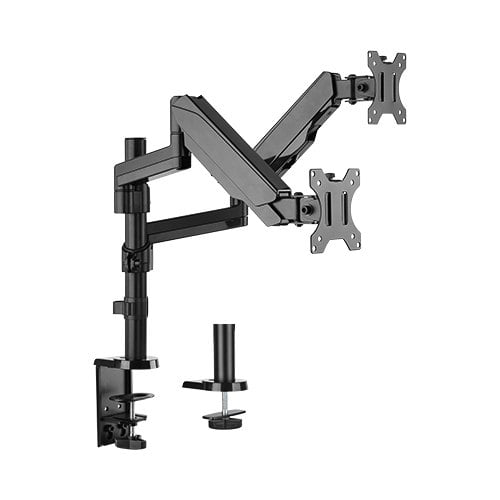 """Buy Brateck-LDT16-C024-Brateck Dual Monitor Full Extension Gas Spring Dual Monitor Arm (independent Arms) Fit Most 17""""-32"""" Monitors Up to 8kg per screen VESA 75x75/100x100"""