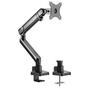 "Buy Brateck-LDT20-C012-Brateck Single Monitor Aluminium Slim Mechanical Spring Monitor Arm Fit Most 17""-32"" Monitor Up to 8kg per screen VESA 75x75/100x100"