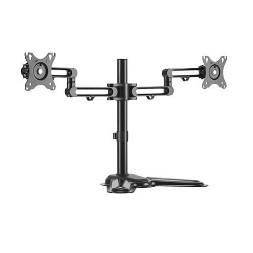 "Buy Brateck-LDT30-T024-Brateck Dual Free Standing Monitor Premium Articulating Aluminum Monitor Stand Fit Most 17""-32"" Monitors Up to 8kg per screen VESA 75x75/100x100"