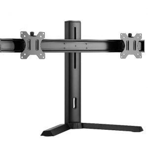 """Buy Brateck-LDT32-T02-Brateck Dual Free Standing Screen Classic Pro Gaming Monitor Stand Fit Most 17""""- 27"""" Monitors"""