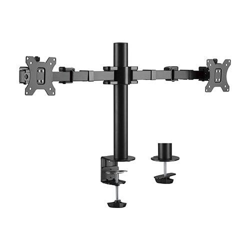 "Buy Brateck-LDT33-C024-Brateck Dual Monitors Affordable Steel Articulating Monitor Arm Fit Most 17""-32"" Monitors Up to 9kg per screen VESA 75x75/100x100"