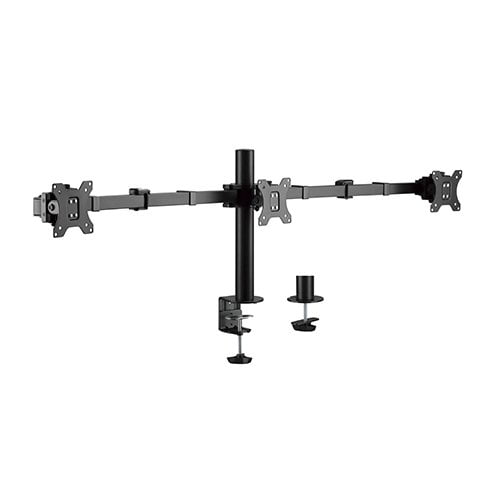 "Buy Brateck-LDT33-C036-Brateck Triple Monitors Affordable Steel Articulating Monitor Arm Fit Most 17""-27"" Monitors Up to 7kg per screen VESA 75x75/100x100"