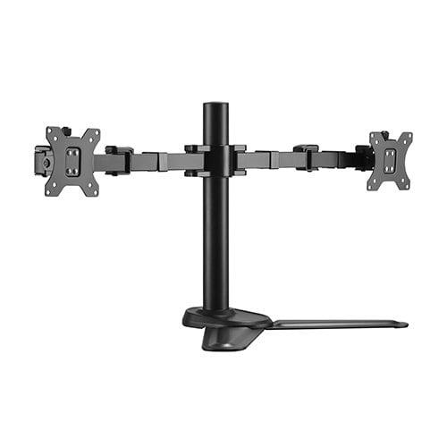 """Buy Brateck-LDT33-T024-Brateck Dual Free Standing Monitors Affordable Steel Articulating Monitor Stand Fit Most 17""""-32"""" Monitors Up to 9kg per screen VESA 75x75/100x100"""