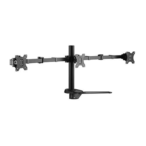 """Buy Brateck-LDT33-T036-Brateck Triple Free Standing Monitors Affordable Steel Articulating Monitor Stand Fit Most 17""""-27"""" Monitors Up to 7kg per screen VESA 75x75/100x100"""
