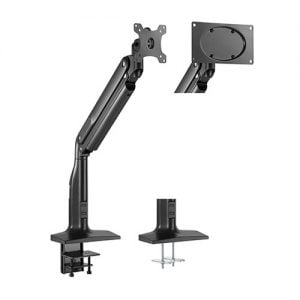 """Buy Brateck-LDT43-C011-Brateck Single Monitor Select Gas Spring Aluminum Monitor Arm Fit Most 17""""-43"""" Monitor Up to 18kg per screen VESA75x75/200x100/100x100"""