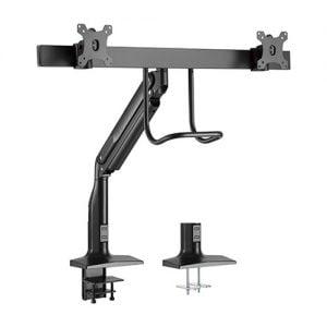 Buy Brateck-LDT43-C021-Brateck Dual Monitors Select Gas Spring Aluminum Monitor Arm Fit Most 17'-35' Monitors Up to 10kg per screen VESA 75x75/100x100