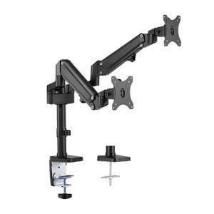 Buy Brateck-LDT47-C024N-Brateck Dual Monitors Heavy-Duty Aluminum Gas Spring Monitor Arm Fit Most 17''-32'' Up to 12kg per screen VESA 75x75/100x100