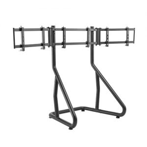 """Buy Brateck-LRS01-SR02-Brateck Triple Monitor Stand Perfect Viewing in the Game Fit Most 24""""-32"""" Monitors Up to 10kg per screen"""