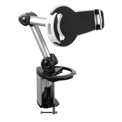 """Buy Brateck-PAD18-02-Brateck 2-IN-1 Aluminum Tablet Desk Clamp Holder (Desk Stand/Wall Mount) For Most 7""""-10.4"""" Tablets (LS)"""