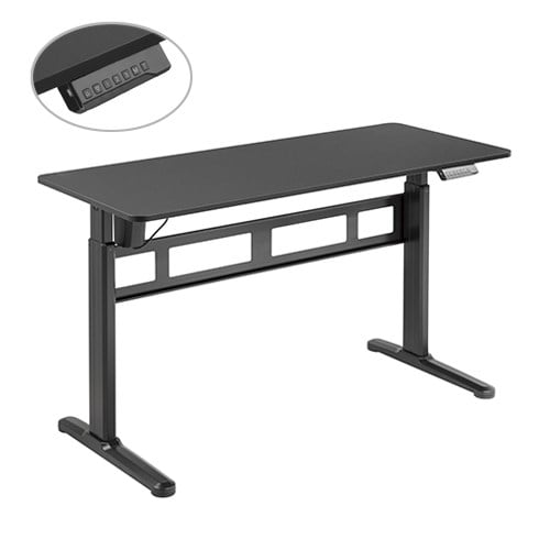 Buy Brateck-S04-22D-B-Brateck Stylish Single-Motor Sit- Stand Desk 1400x600x740~1200mm - Black