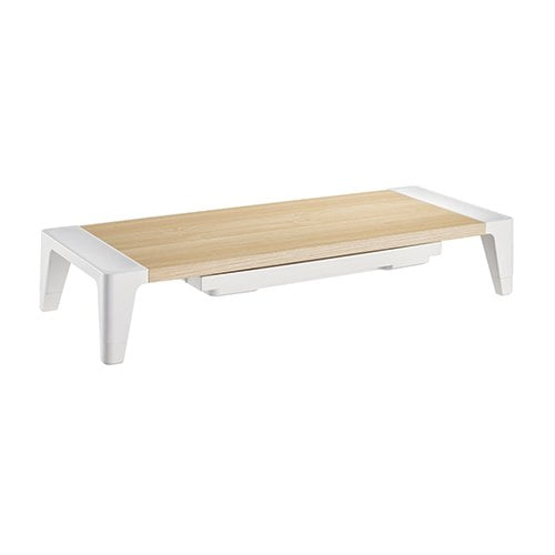 """Buy Brateck-STB-143-Brateck White Birch Monitor Riser with Increased Height and Drawer (554x215x100mm) Fit Screen Size 13""""-32"""" Weight CapacityUp to 20kg"""