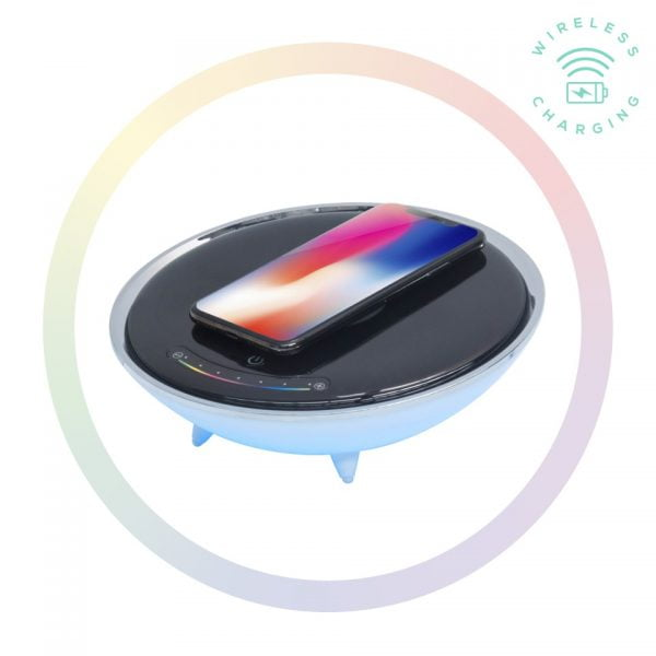 Buy MBEAT-ACA-LED-U1-mbeat® Wireless Charging Station with RGB Colour Lighting Charging Stand - Compatible with iPhone 8/8 PLUS/X/Galaxy S8(L)