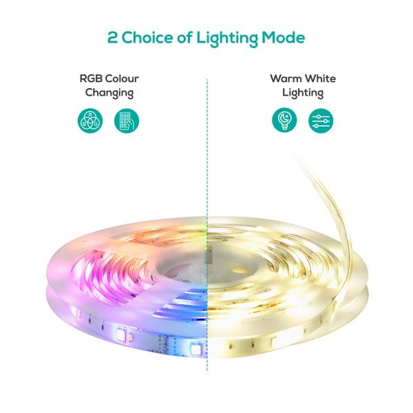 Buy MBEAT-ACA-LS65RGBWW-5M-mbeat activiva 5m IP65 Smart RGB  Warm White LED Strip Lights