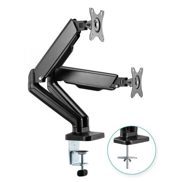Buy MBEAT-ACA-MMA-DGC01K-mbeat® activiva ErgoLife Dual Monitor Screen Steel Gas Spring Monitor Arm