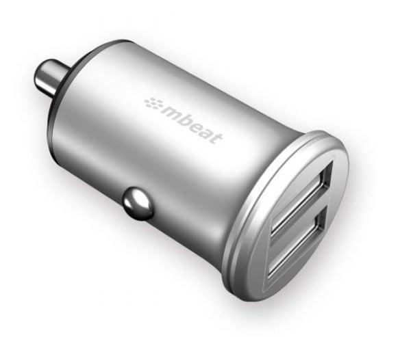 Buy MBEAT-MB-CHGR-C248-mbeat® Power Dot Pro Dual port 4.8A Rapid Car Charger - 24W/Metallic Design/Fast Charging Mobile Apple iPhone iPad Samsung Galaxy Hauwei HTC Google