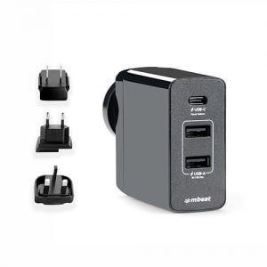 Buy MBEAT-MB-CHGR-PD45-mbeat® Gorilla Power 45W USB-C Power Delivery (PD 2.0) and Dual USB-A World Travel Charger