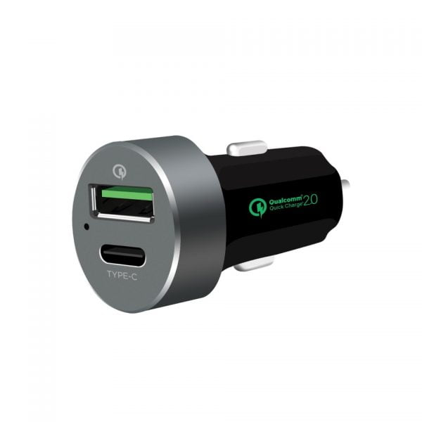 Buy MBEAT-MB-CHGR-QBC-mbeat® QuickBoost USB 2.0  USB Type-C Dual Port Car Charger -  Certified Qualcomm Quick Charge 2.0 technology /Fast Charging/ Samsung Galaxy Note(LS)