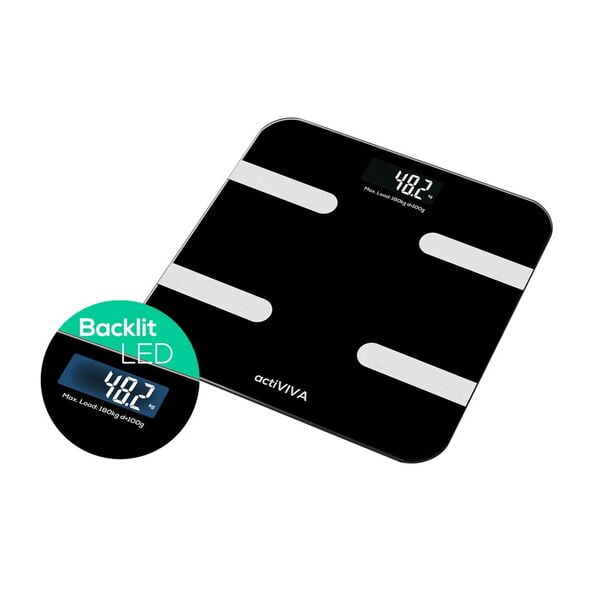 """Buy MBEAT-MB-SCAL-BT01-mbeat® """"actiVIVA"""" Bluetooth BMI and Body Fat Smart Scale with Smartphone APP"""