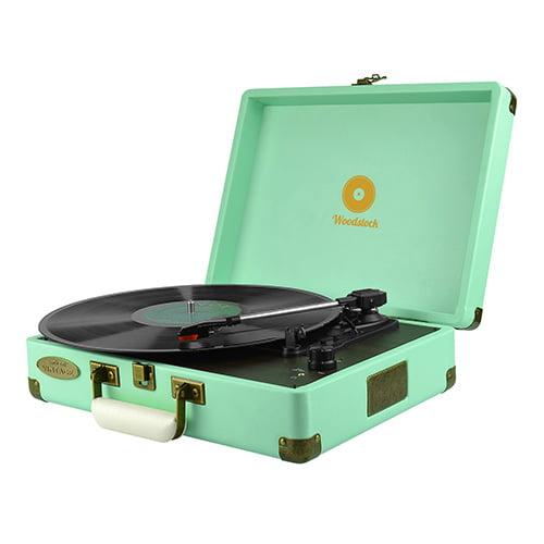 Buy MBEAT-MB-TR89TBL-mbeat® Woodstock Retro Turntable Player TIIFFANY BLUE (L)