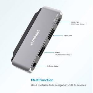 Buy MBEAT-MB-UCD-P6-mbeat®  Elite Mini 4-In-1 USB-C Mobile Hub for iPad Pro
