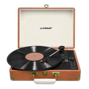 Buy MBEAT-MB-USBTR128-mbeat® Woodstock Retro Turntable Recorder with Bluetooth  USB Direct Recording - Built-in Dual Speakers