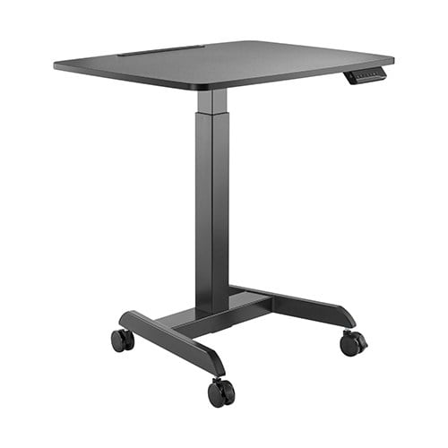 Buy Brateck-FWS08-3-B-Brateck Electric Height Adjustable Workstation with casters - Black