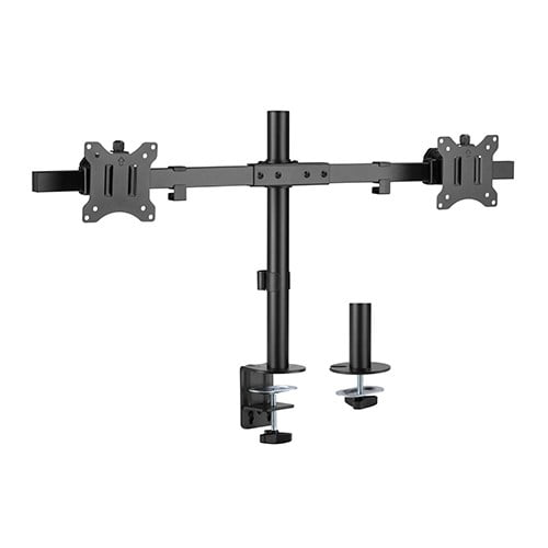 """Buy Brateck-LDT57-C02-Brateck Pole Mount Dual-Screen Monitor Mount Fit Most 17""""-32"""" Monitors"""