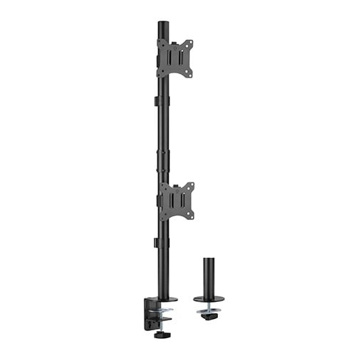 """Buy Brateck-LDT57-C02V-Brateck Vertical Pole Mount Dual-Screen Monitor Mount Fit Most 17""""-32"""" Monitors"""