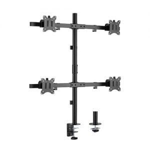 "Buy Brateck-LDT57-C04-Brateck Pole Mount Quad-Screen Monitor Mount Fit Most 17""-32"" Monitors"