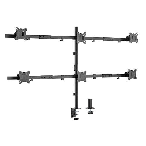"Buy Brateck-LDT57-C06-Brateck Pole Mount Six-Screen Monitor Mount Fit Most 17""-32"" Monitors"
