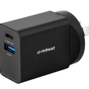 Buy MBEAT-MB-CHGR-PQC18B-mbeat® Gorilla Power Dual Port 18W USB-C PD  QC 3.0 Charger