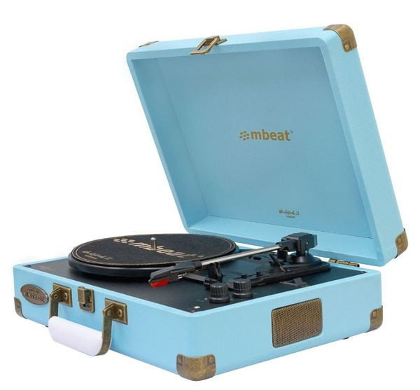 Buy MBEAT-MB-TR96BLU-mbeat®  Woodstock 2 Sky Blue Retro Turntable Player with BT Receiver  Transmitter