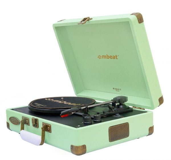 Buy MBEAT-MB-TR96TGN-mbeat®  Woodstock 2 Tiffany Green Retro Turntable Player