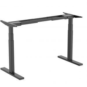 Buy Brateck-M09-23D-B-Brateck High performance 3-Stage Dual Motor Sit-Stand Desk 1000~1500x600x620~1280mm (Black FRAME ONLY); Requires TP15075 for the Board