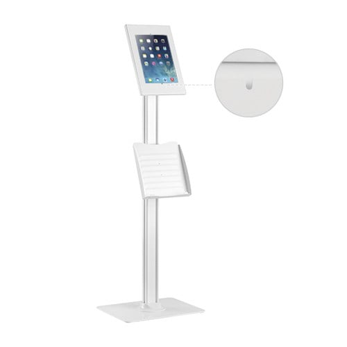 """Buy Brateck-PAD26-04CN-Brateck Anti-theft Tablet Kiosk Floor Stand with Catalogue holder 9.7""""/10.2"""" Ipad"""