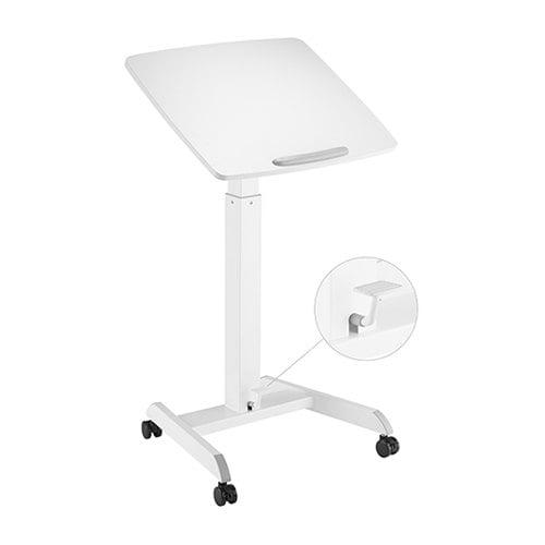 Buy Brateck-FWS07-1-Brateck Height Adjustable Mobile Workstation with Foot Pedal and Tiltable Desktop