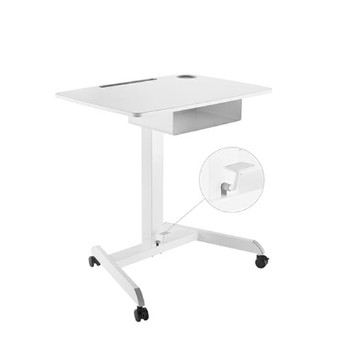 Buy Brateck-FWS07-4-Brateck Height Adjustable Mobile Workstation With Drawer - White