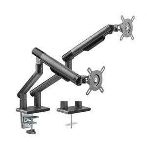 "Buy Brateck-LDT49-C024-B-Brateck Dual Monitor Premium Slim Aluminum Spring-Assisted Monitor Arm Fix Most 17""-32"" Monitor Up to 9kg per screen VESA 75x75/100x100 (Space Grey)"