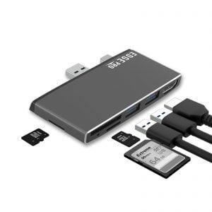 Buy MBEAT-MB-EGE-P78GRY-mbeat® Edge Pro P78 Multifunction Hub for Microsoft Surface Pro Gen 5  Gen 6
